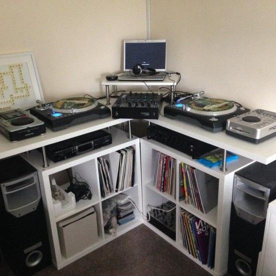 Mesa Dj Ikea X8d1 Space Saving Corner Dj Music Production Unit In Every Dream Home