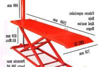 Mesa Elevadora Irdz Mesa Elevadora De Motos Neumà Tica Medidas 2500 X 730 X 830 Alt Modelo Fijo Color Rojo 3020