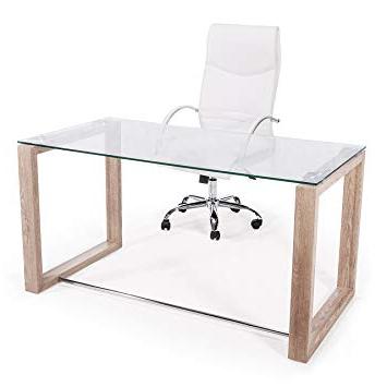 Mesa Estudio Thdr Adec Mesa De Estudio Oficina Office Cristal Transparente Y Patas