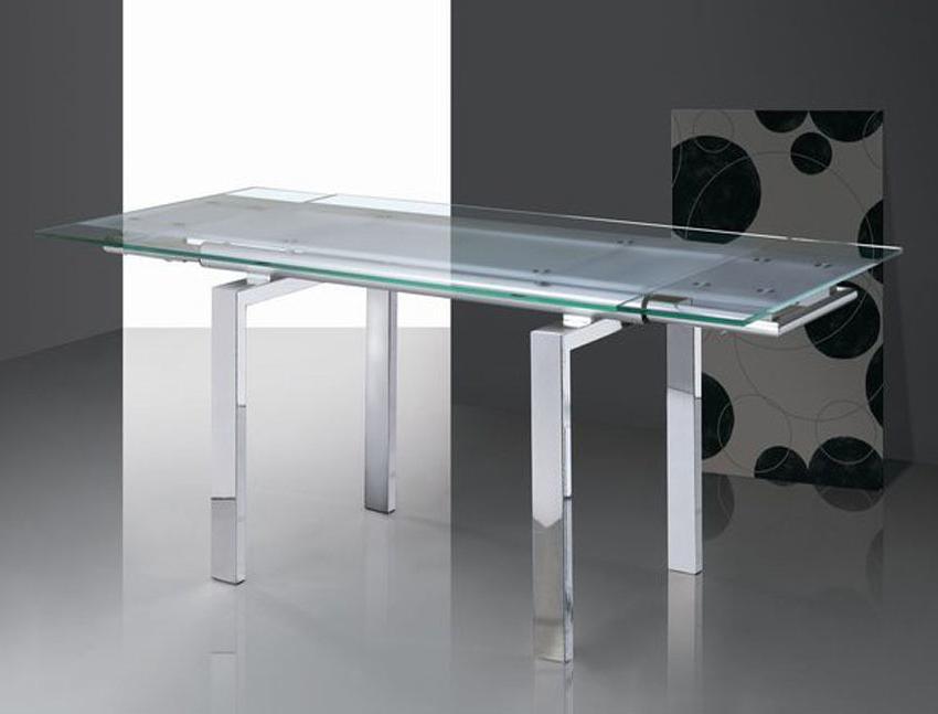 Mesa Extensible Cristal E9dx Mesa Extensible Diseà O Moderno De Cristal 150 220 X 90 Kuki