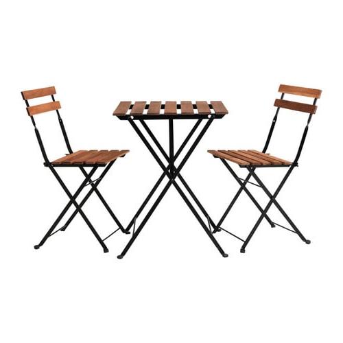 Mesa Exterior Ikea Jxdu Tà Rnà Mesa 2 Cadeiras Exterior Tà Rnà Preto Velatura Cast Acinzent