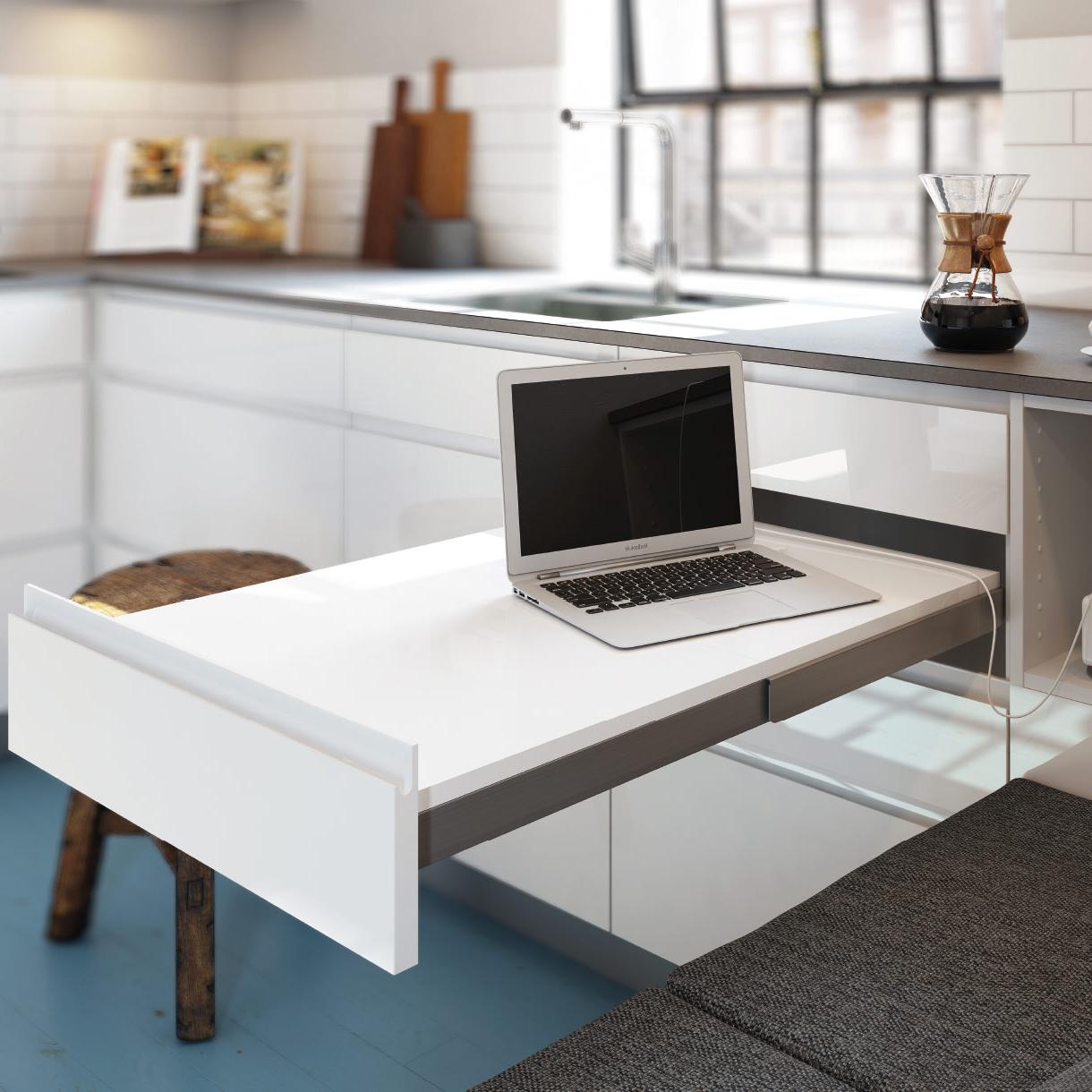 Mesa Extraible Cocina Rldj Linea Gloss Consigue Una Cocina Con Un Bonito Acabado Blanco Brillante