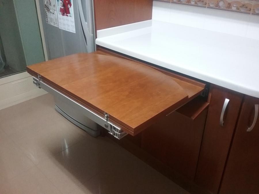 Mesa Extraible Cocina Txdf Foto Despliegue De Mesa Extraible De Carpellhermanos Carpinteria