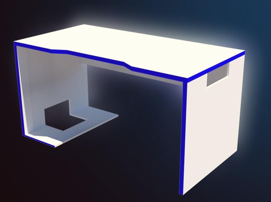 Mesa Gamer Txdf Mesa Gamer Branca Setup 1 50m Mdf Led Rgb R 739 00 Em Mercado Livre