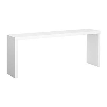 Mesa Libro Ikea Fmdf Ikea Malm Mesa Auxiliar Blanco 191x74 Cm Hogar