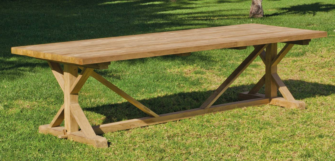 Mesa Madera Exterior Ffdn Mesa Madera Teka Noale 300 De Hevea Terraza Jardà N Madera Online