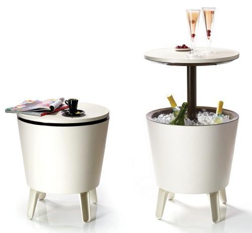 Mesa Nevera Carrefour Txdf Keter Cool Bar Crema Y Chocolate Mesa Nevera Para Exterior Blanco