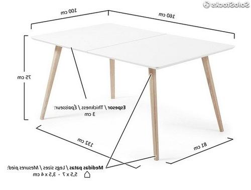 Mesa nordica Extensible U3dh Mesa nordica Extensible Oslo 160 260×100