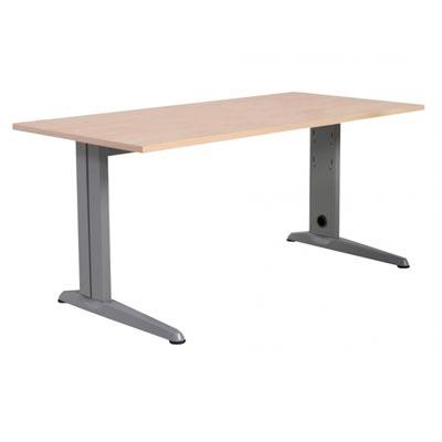 Mesa Oficina 4pde Mesa 180x80 Estructura Aluminio Tablero Haya Deskidea