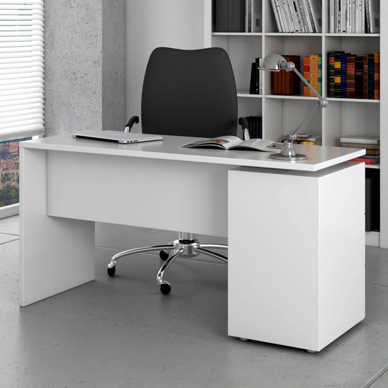 Mesa Oficina Blanca Qwdq Mesa Despacho En Blanco Brillo Modelo Stylus