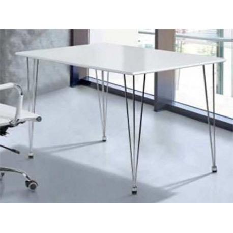 Mesa Oficina Ffdn Mesa Oficina O Despacho Patas Acero Blanca
