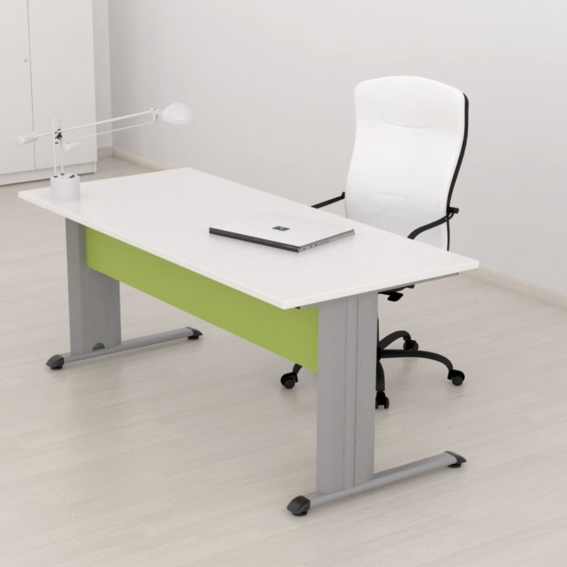Mesa Oficina H9d9 Mesa Para Oficina Con Pata Metà Lica En forma De T Aulamobel