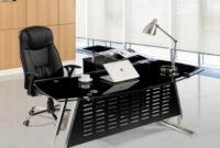 Mesa Oficina Nkde Mesa Oficina Cristal Negro Ala Derecha 180×85 Cms De Sdm Evian D180