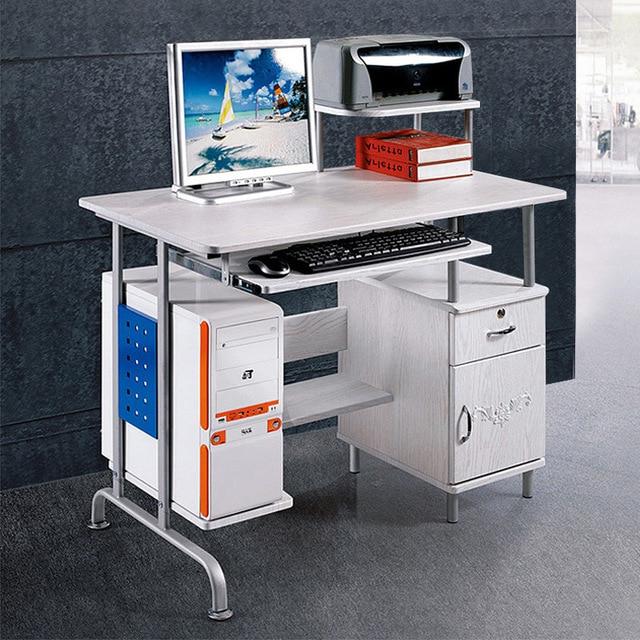 Mesa ordenador Blanca 4pde Sunteam ordenador De Mesa Moderna Casa Minimalista De Escritorio