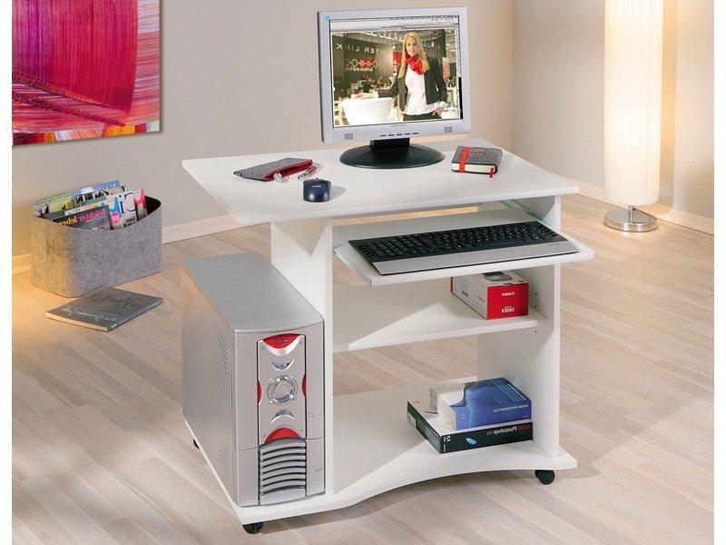 Mesa ordenador Blanca Kvdd Mesa De ordenador Con Ruedas De Diseà O Para Oficina