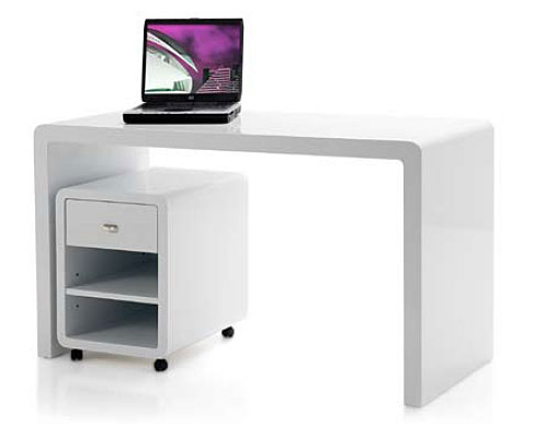 Mesa ordenador Blanca Rldj Mesa Escritorio Lacado En Blanco No Disponible En Portobellostreet