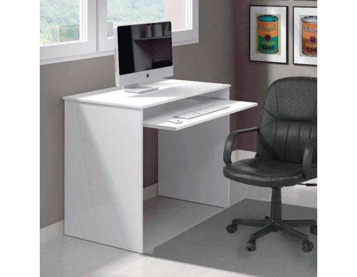Mesa ordenador Blanca Rldj Mesas Despacho Multimedia Melaminado Fesmà S