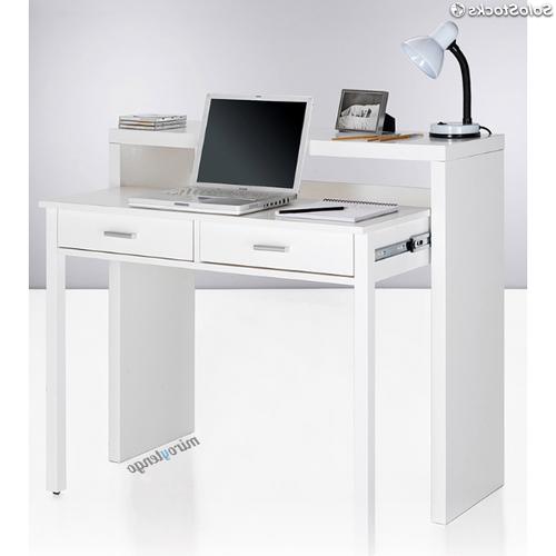 Mesa ordenador Blanca Xtd6 Mesa De ordenador Escritorio Extensible Color Blanco Brillo De