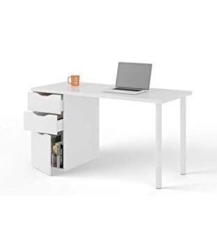 Mesa ordenador Qwdq Habitdesign Bo Mesa ordenador Reversible Color Blanco