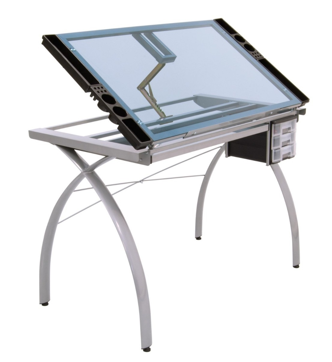 Mesa Para Dibujar Dwdk Mesa Para Dibujo Artà Stico De Cristal Escritorio Dibujar Vbf