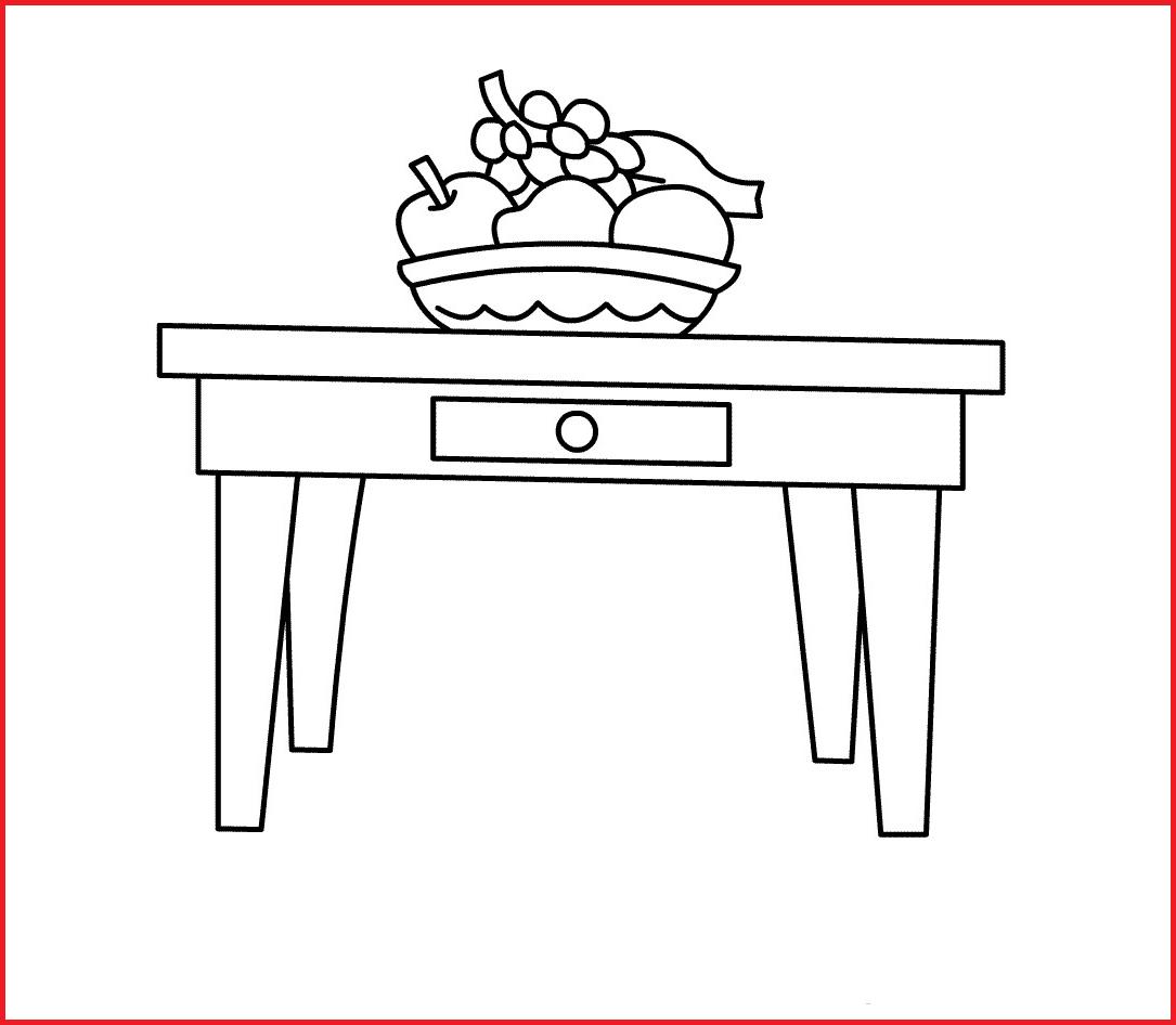 Mesa Para Dibujar X8d1 Dibujo De Mesa De Salã N Para Colorear