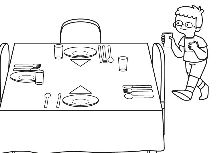Mesa Para Dibujar Xtd6 Nià O Poniendo La Mesa Dibujo Para Colorear E Imprimir