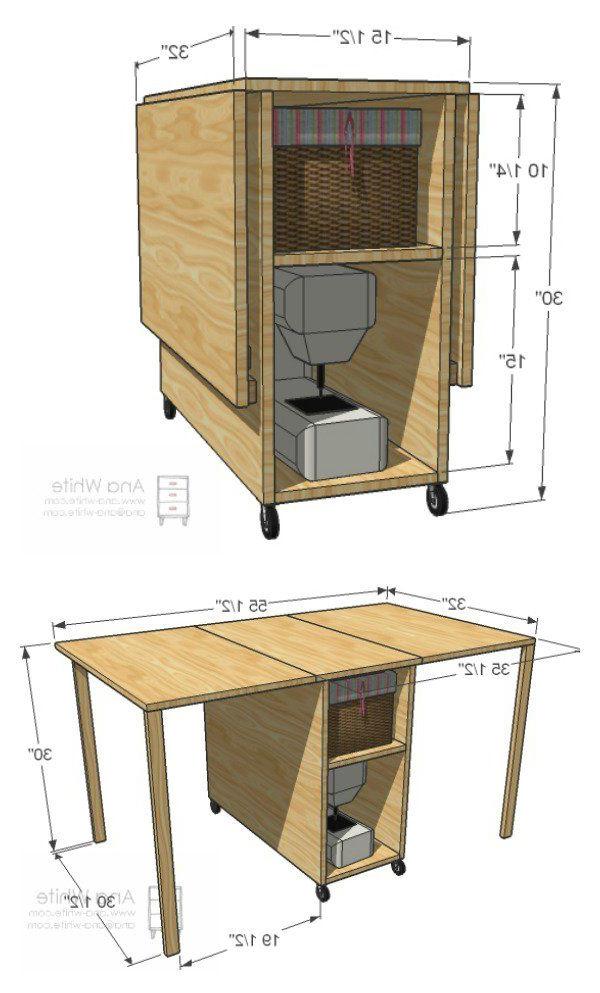 Mesa Para Maquina De Coser Ikea E6d5 Diy Mueble Para MÃ Quina De Coser Madera Pinterest Muebles