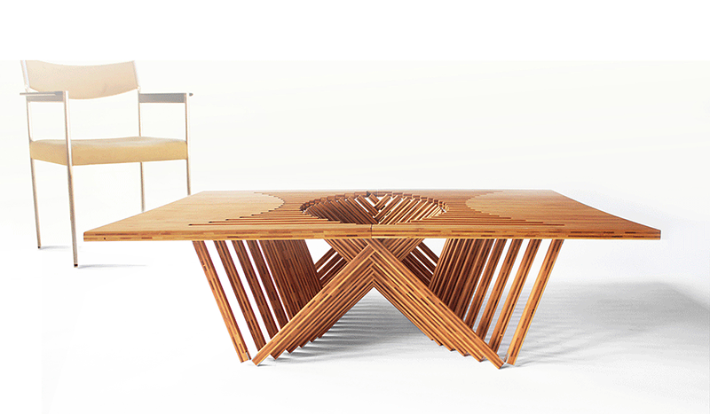 Mesa Plegable De Madera E6d5 Rising Table Mesa Plegable De Madera Por Robert Van Embricqs