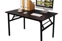 Mesa Plegable Estudio 9fdy Need Mesa Plegable 100x60cm Mesa De ordenador Escritorio De Oficina Mesa De Estudio Puesto De Trabajo Mesas De Recepcià N Mesa De formacià N Negro