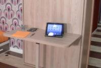 Mesa Plegable Estudio Bqdd Cama Abatible Individual Life Box Con Escritorio
