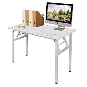 Mesa Plegable Estudio Bqdd Need Mesa Plegable 100x60cm Mesa De ordenador Escritorio De Oficina Mesa De Estudio Puesto De Trabajo Mesas De Recepcià N Mesa De formacià N Blanco