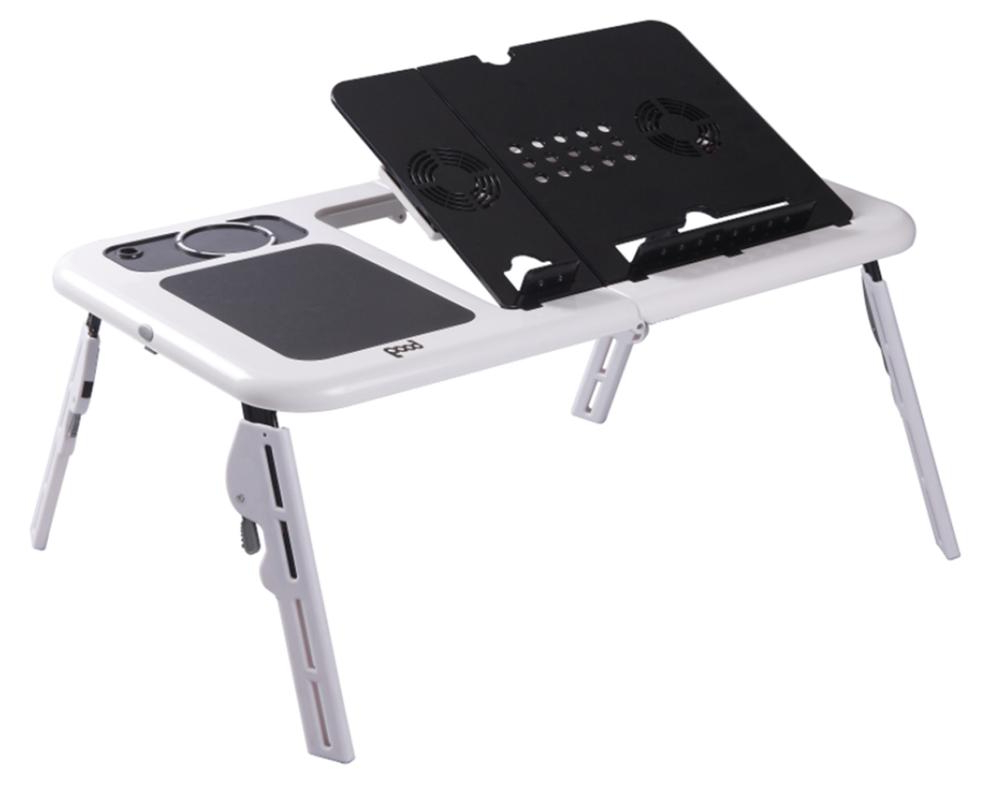 Mesa Portatil Drdp Mesa Portatil Plegable De Plastico Con 2 Ventiladores Para Laptop