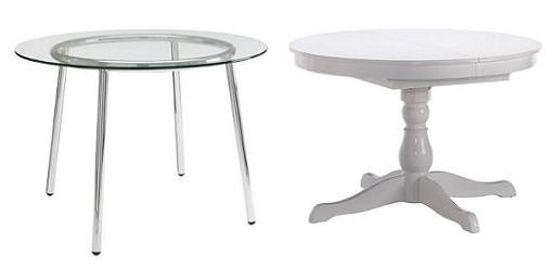 Mesa redonda cristal extensible affordable mesa redonda for Mesa redonda cristal ikea