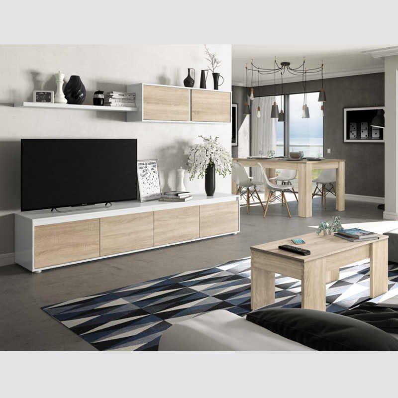 Mesa Salon 8ydm Pack Salà N Mueble Mesa Centro Y Mesa Salà N Extensible Miroytengo
