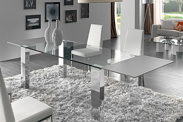 Mesa Salon Cristal Tldn Muebles Coves Mobiliario Y Decoracià N Tienda De Muebles En Benidorm