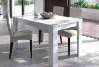 Mesa Salon E6d5 Mesa De Salà N Extensible Blanco Con Apertura Central 165 X 76 5 X 85