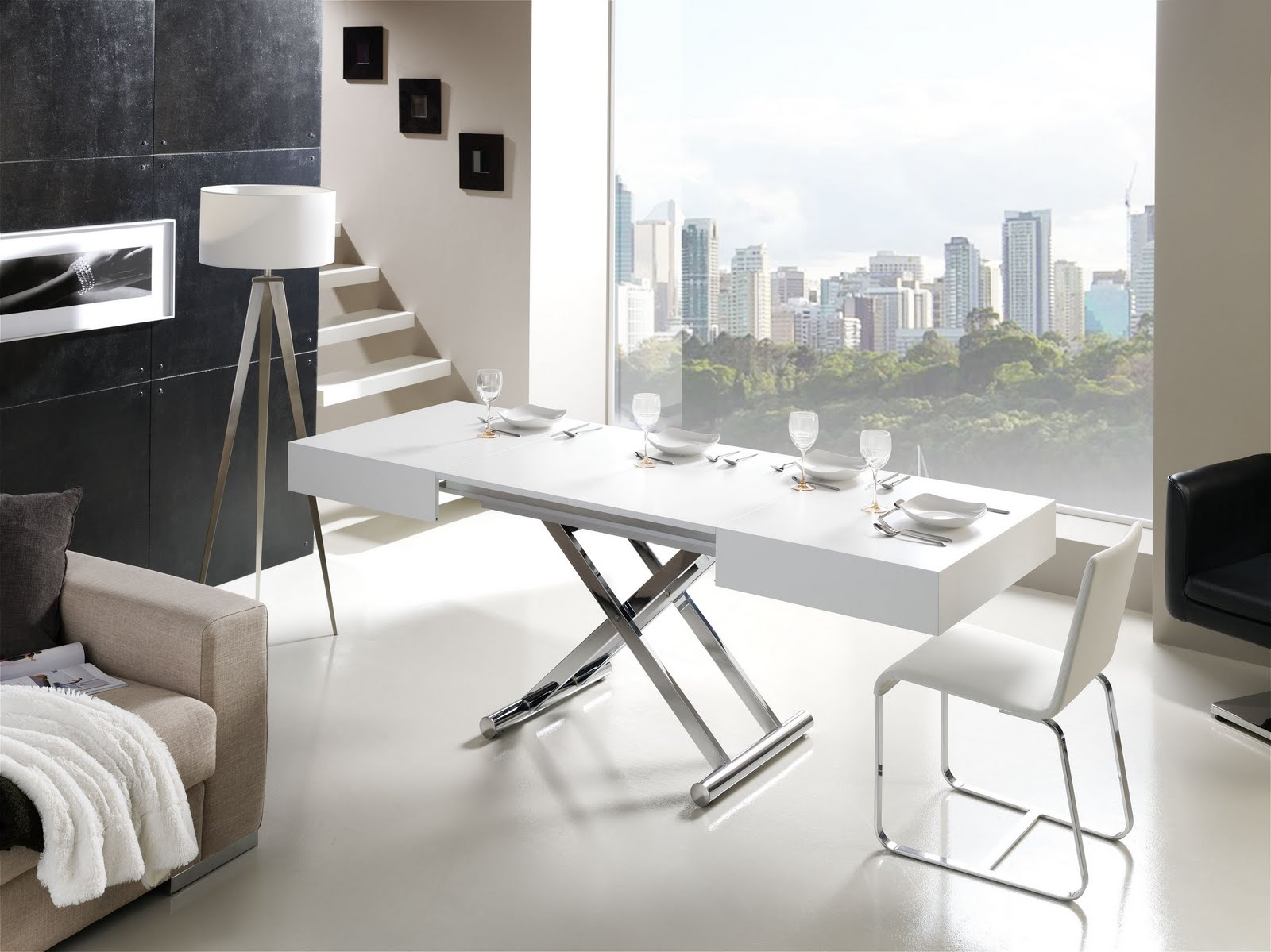 Mesa Salon Plegable D0dg Mesa Centro Activa Elevable Y Extensible A Edor Muebles Xikara