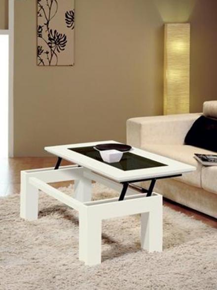 Mesa Salon Plegable Thdr Modelo 530 Novedad Mesa De Centro Abatible MÃ Rmol Pacto Blanco