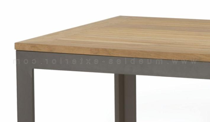Mesa Teka Etdg Mesa De Aluminio sobre De Teca 80x80 Ref 367
