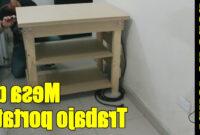 Mesa Trabajo Plegable 87dx Diy Mesa De Trabajo Plegable Parte 1 3 Construccià N Youtube