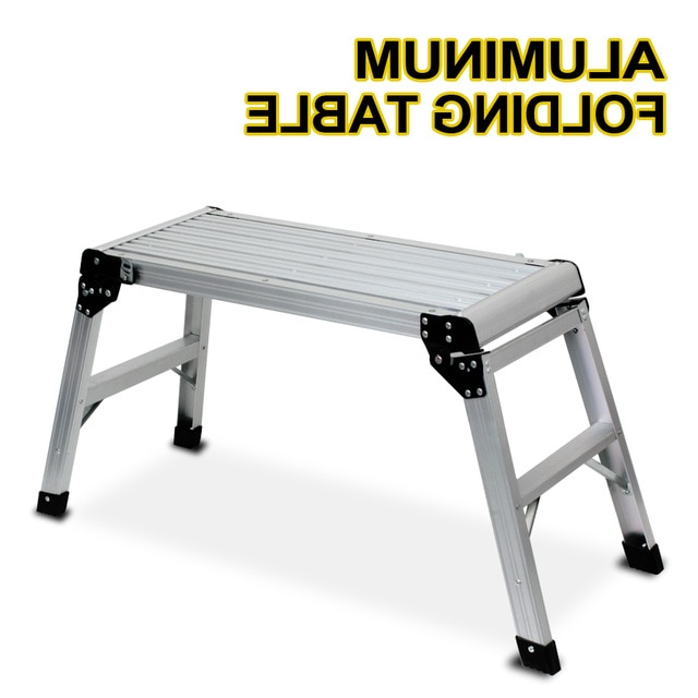 Mesa Trabajo Plegable H9d9 Nueva Plataforma De Aluminio Drywall Step Up Mesa Plegable Banco De