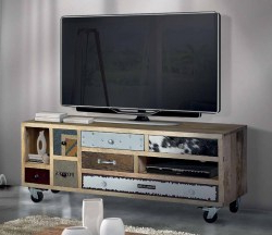 Mesa Tv Con Ruedas 3ldq Mesa Tv Estilo Vintage Ruedas Venta Online Muebles Tv Vintage