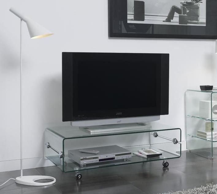Mesa Tv Con Ruedas Ftd8 Mesa Tv Cristal Con Ruedas 100x50 Ct 220