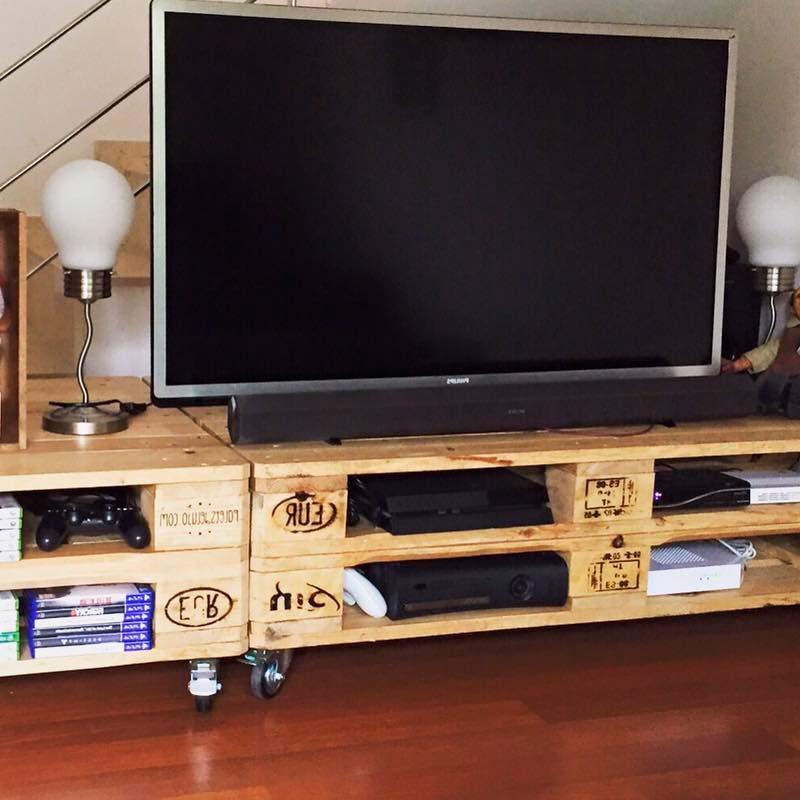 Mesa Tv Palets 8ydm Mesa Tv Petrona Decopale Ideas Incre Bles De Tv Palets Image 4