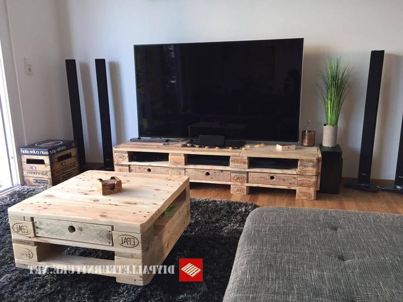 Mesa Tv Palets Gdd0 Mueblesdepalets Mueble Para El Televisor Y Mesita De CafÃ