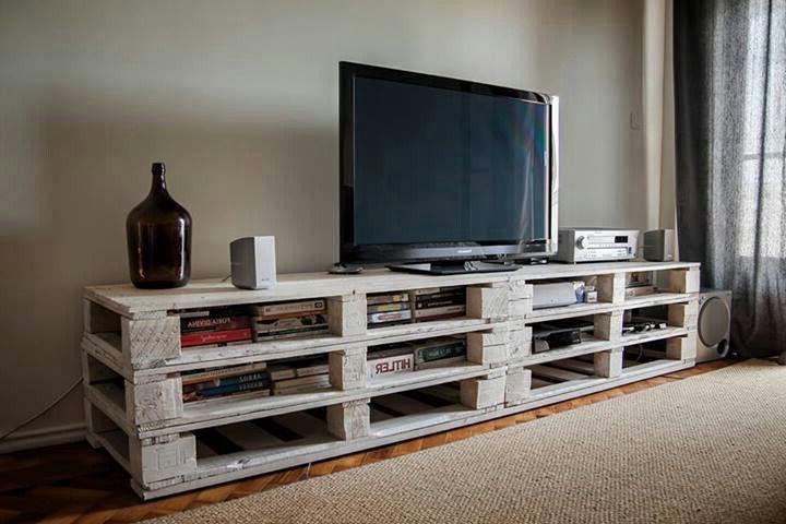 Mesa Tv Palets O2d5 Palets Para Un Mueble De Televisià N I Love Palets