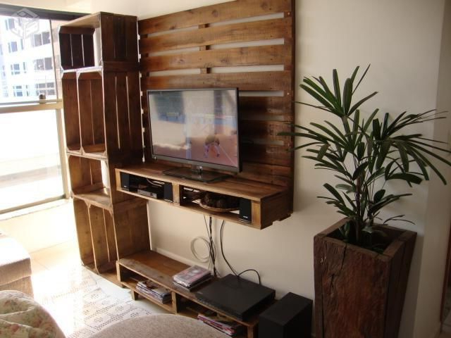 Mesa Tv Palets S5d8 Mueblesdepalets Mueble Para La Tv Con Palets Y Cajas De Fruta