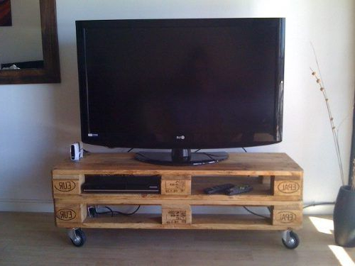 Mesa Tv Palets Y7du Banco Mesa Tv De Palet Pallet Multifuncion Con Ruedas 699 00