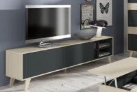 Mesa Tv X8d1 Mesa Tv 2 Puertas Stylus Roble Y Gris Antracita