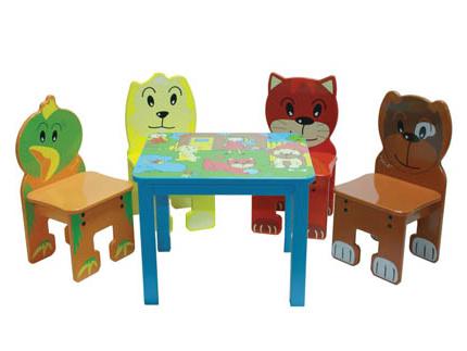 Mesa Y Silla Infantil Qwdq Conjunto Mesa Con Sillas Infantiles Animales Mobiliario Infantil